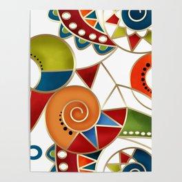 The art design. Carousel. Poster