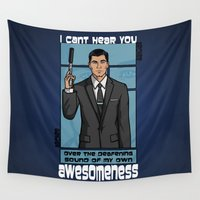 archer Wall Tapestries featuring Archer Awesomeness by 666HUGHES