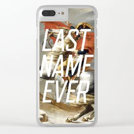 Last Name Ever Clear iPhone Case