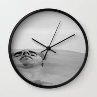 bath Wall Clocks featuring Bath by Ryan Escalante