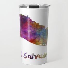 El Salvador in watercolor Travel Mug