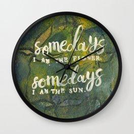Somedays flower. Somedays rain. Wall Clock