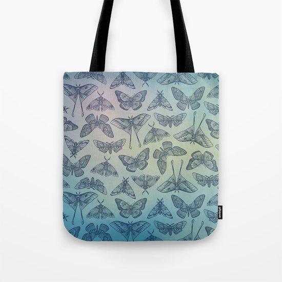 Lepidoptera Blue Tote Bag
