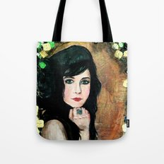 Green Lady Tote Bag
