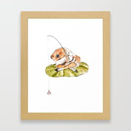 Jeremy Fisher fishing Peter Rabbit  Beatrix Potter Framed Art Print