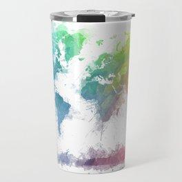 World Map splash 2 Travel Mug