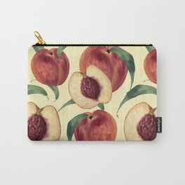 Watercolor sweet peaches Carry-All Pouch