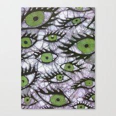 green eyes batik Canvas Print