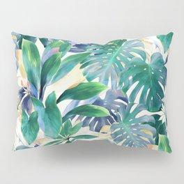 Golden Summer Tropical Emerald Jungle Pillow Sham