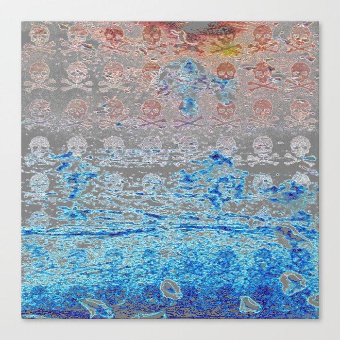 Dead Frost Skulls (Lighter) Canvas Print