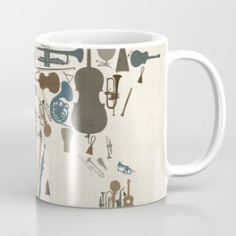 Musical Instruments Map of the World Coffee Mug