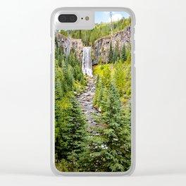 Tumalo Falls Oregon Clear iPhone Case
