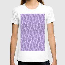 Lilac Sayagata Pattern - Auspicious Sacred Geometry T-shirt