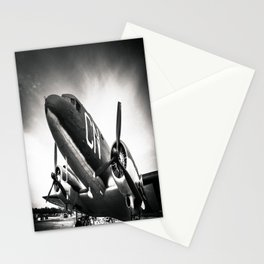 C-47D Skytrain Black and White Stationery Cards