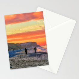 Cromer Beach at Sunset Stationery Cards