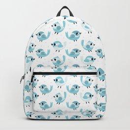 Happy Blue Birds Pattern Backpack