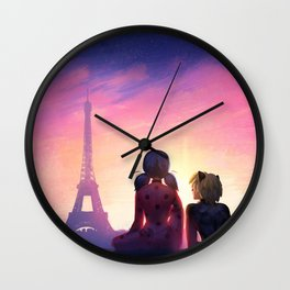 Miraculous in Paris Wall Clock