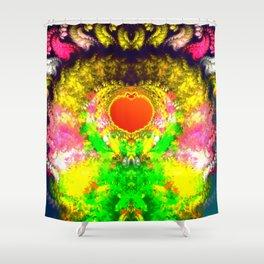 Embedded heart Shower Curtain
