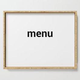 menu Serving Tray