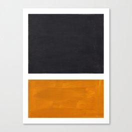 Black Yellow Ochre Rothko Minimalist Mid Century Abstract Color Field Squares Canvas Print