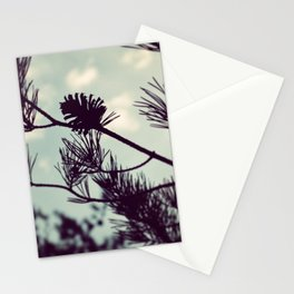 Pinecone Silhouette Stationery Cards