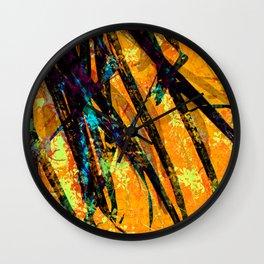 Palm Frond + Beyond [sun] Wall Clock