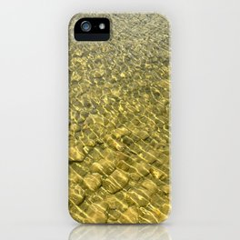 Water background with stones iPhone Case