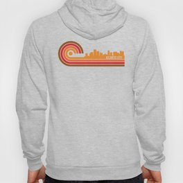 Retro Style Atlantic City New Jersey Skyline Hoody