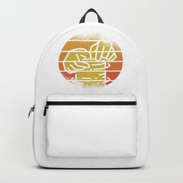 Retro Sun Pottery Wheel Backpack