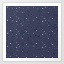 Dark Gray Blue Shambolic Bubbles Art Print
