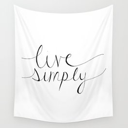 Live Simply Wall Tapestry