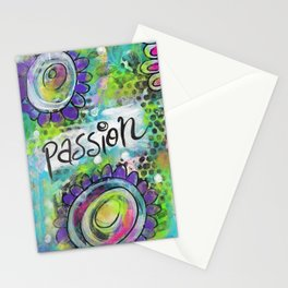 """""""Do it with Passion""""   Original painting by Mimi Bondi Stationery Cards"""