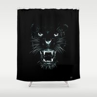 beast Shower Curtains featuring Beast by Giuseppe Cristiano