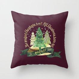 The perfect Christmas tree? All Christmas trees are perfect! Charles Barnard Throw Pillow