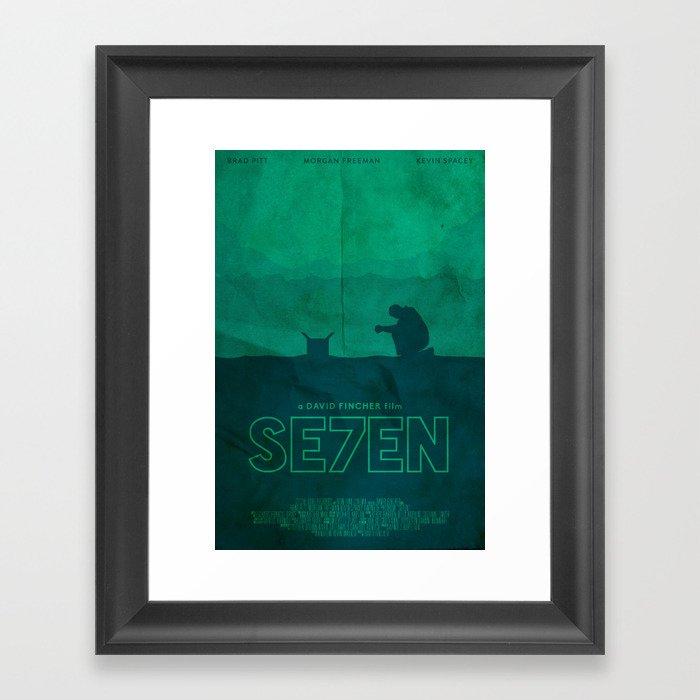 The Box - Se7en Poster Gerahmter Kunstdruck