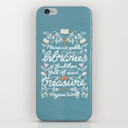 Virginia Woolf Library Literature Quote - Book Nerd iPhone Skin