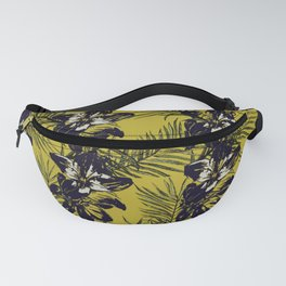 Yellow Tropical florals Fanny Pack