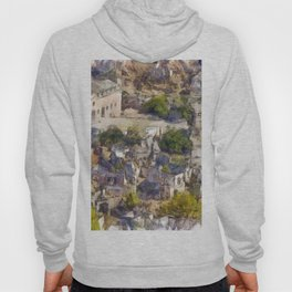 Rock Village of Kayakoy AKA Levissi Pencil Sketch Hoody