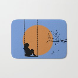 Dreaming like a child Bath Mat