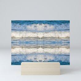 Abstract Waves splashing off the Queensland coast, Australia kaleidoscope Mini Art Print