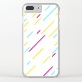 Simple Colorful Abstract Lines Pattern Clear iPhone Case