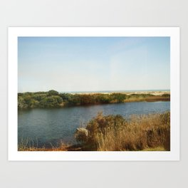 The pond by the Ocean Art Print
