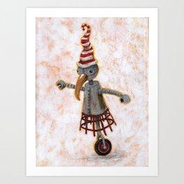 Wheeliebot Art Print