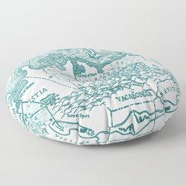 Map of Bohemia (blue) Floor Pillow