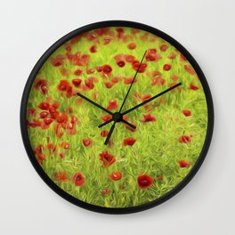Poppyflower IV Wall Clock