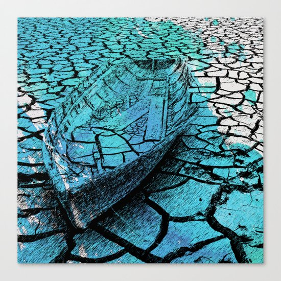 SEA ON DRY GROUND Canvas Print