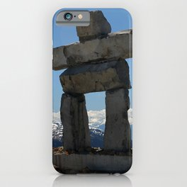 Whistler Mountain Inukshuk iPhone Case