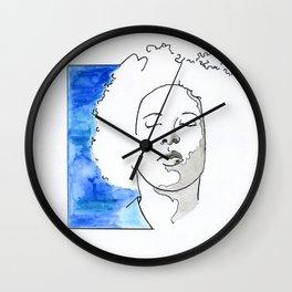 Boy in blue Wall Clock