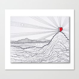 Heart in the Canyons Canvas Print