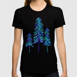Pine Trees – Navy & Turquoise Palette T-shirt